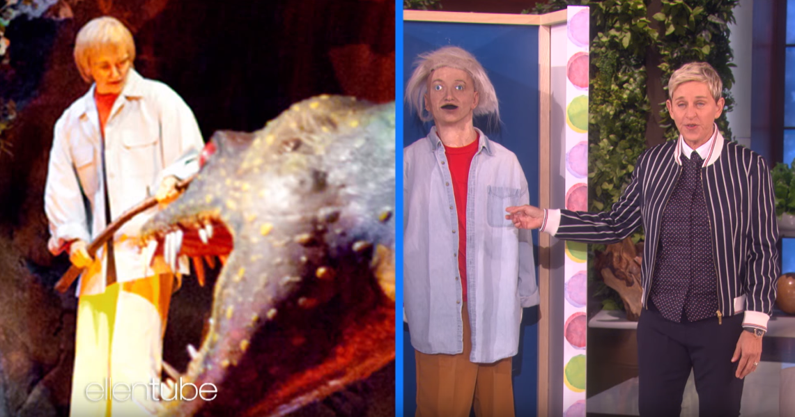 Ellen Degeneres Is Gifted The Animatronic From Universe Of