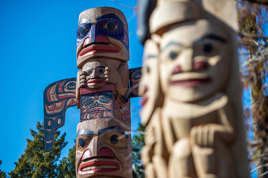 Epcot | Totem Poles in Canada Pavilion | Walt Disney World
