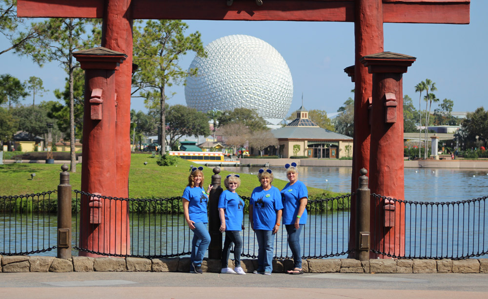 The Golden Grammas visited Epcot for the first time.