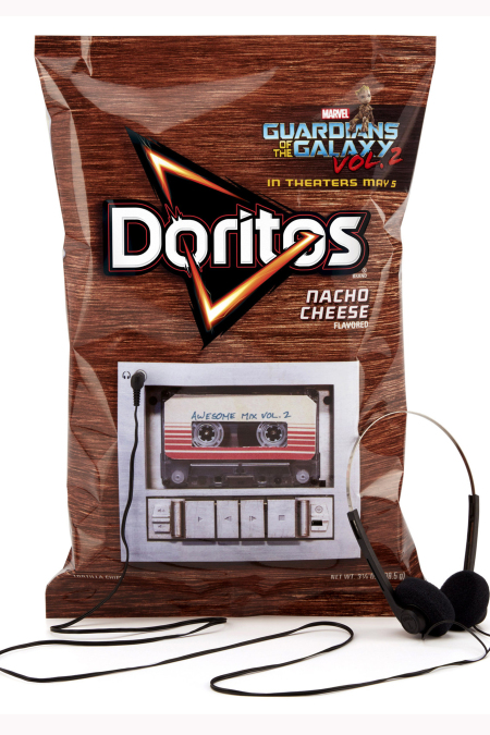 Doritos rocks out with 'Guardians of the Galaxy Vol. 2' for out-of-this-world soundtrack release. (PRNewsfoto/Frito-Lay North America)