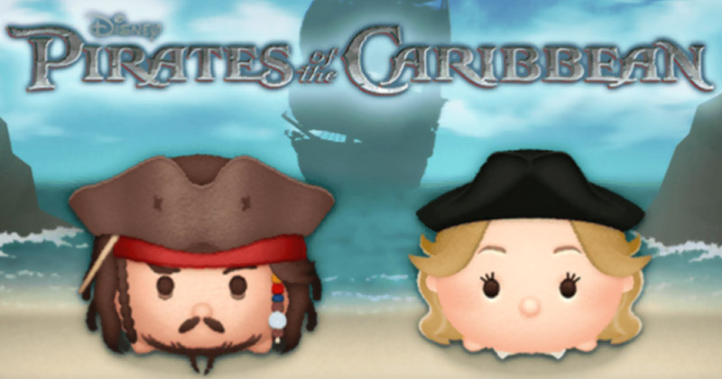 Disney Tsum Tsum - Captain Jack Sparrow and Elizabeth Swann