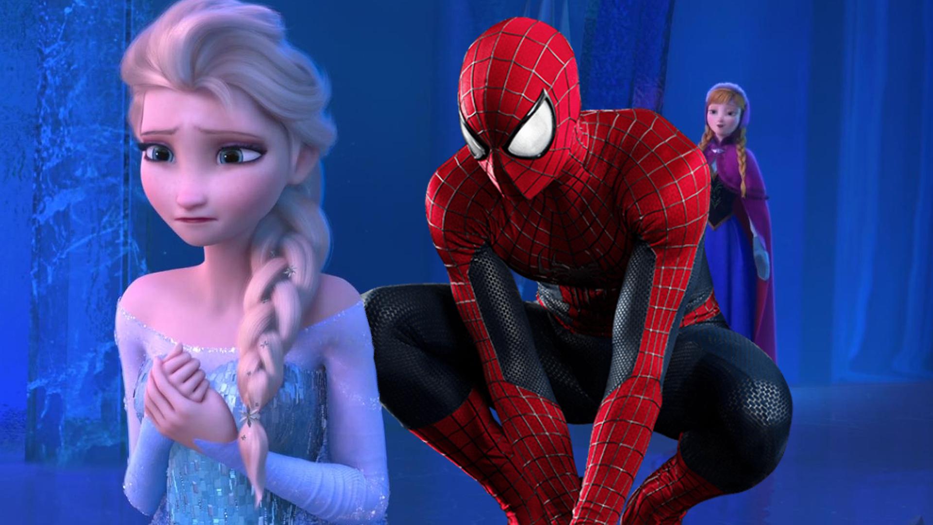 spiderman vs elsa