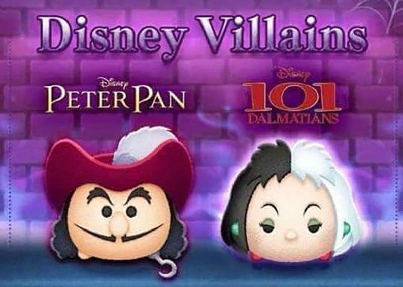 October 2017 Tsum Tsum Event is Disney Villains.