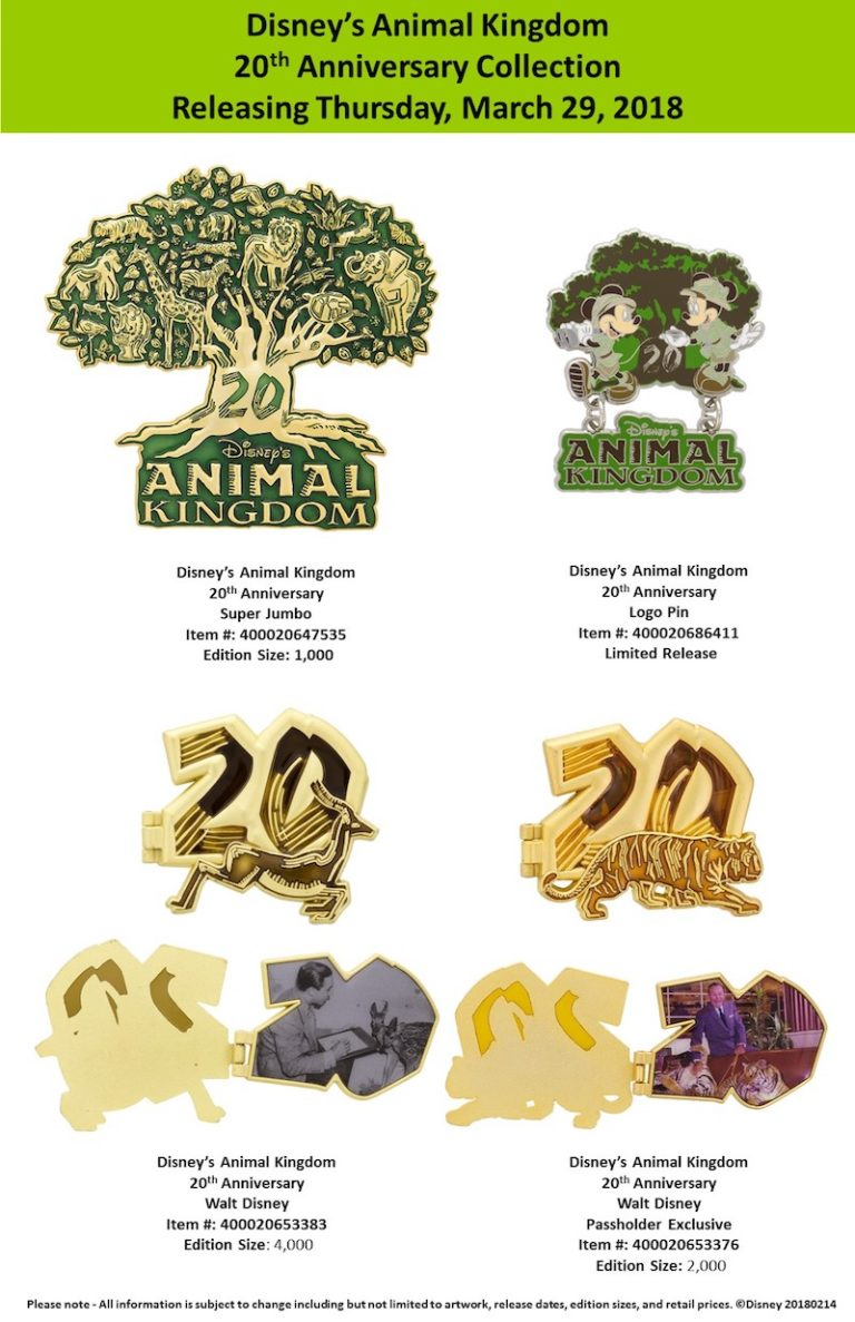 20th Anniversary Pin Collection