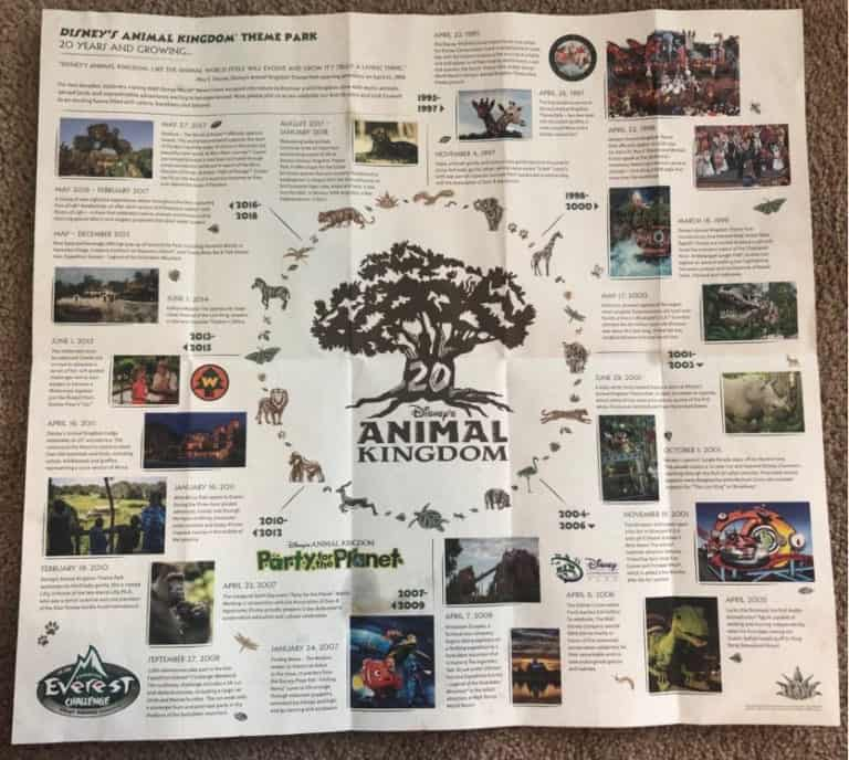 First Look - Park Map Images for Disney\'s Animal Kingdom 20th ...