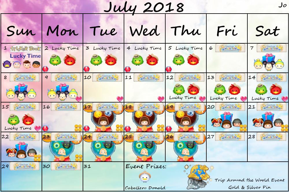 Tsum Tsum 2020 January Event Calendar July 2018 Tsum Tsum Event Features 'The Three Caballeros' | The