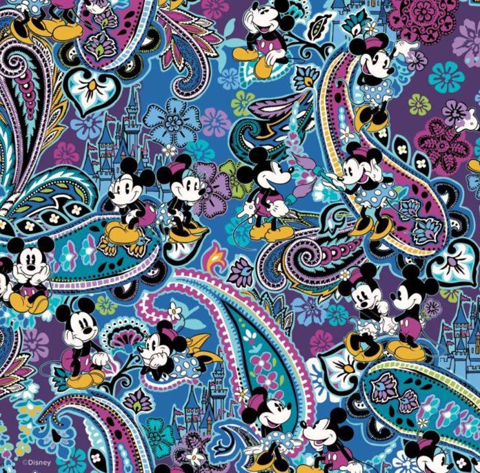 New Vera Bradley Mickey s Paisley Celebration 90th Birthday Design ... d5b6cb2a0988e