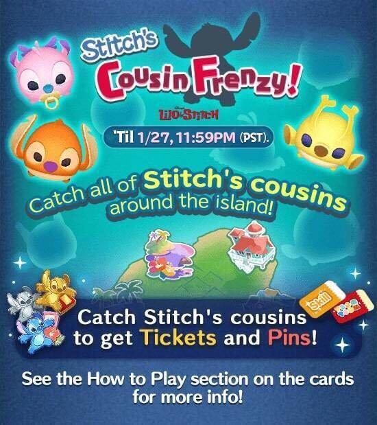 Tsum Tsum 2019 January Event Calendar January 2019 Disney Tsum Tsum Event Features Lilo & Stitch
