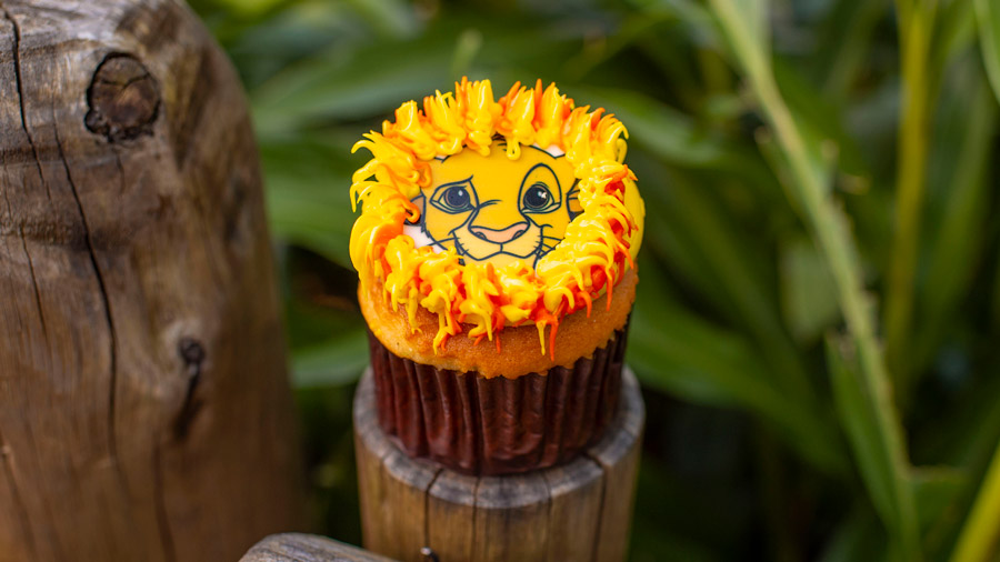 Simba Cupcake from Isle of Java and Pizzafari at Disney's Animal Kingdom Theme Park
