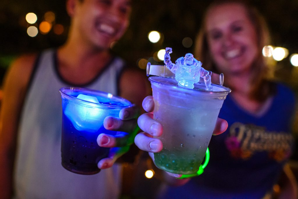 Specialty Beverages from H2O Glow Nights at Disney's Typhoon Lagoon