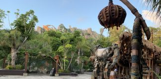 Pandora The World of Avatar is virtually empty during a special Sunrise Breakfast media event.