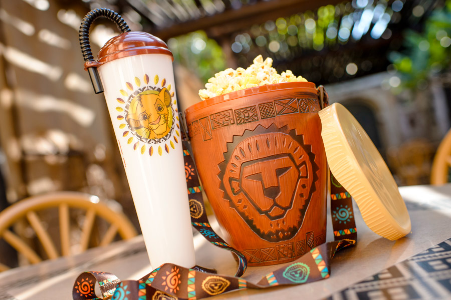 The Lion King Novelty Sipper and Popcorn Bucket at Disney's Animal Kingdom Theme Park