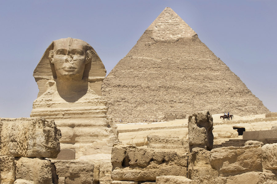 Journey to Giza, home of the famous pyramids and the Sphinx with Adventures by Disney