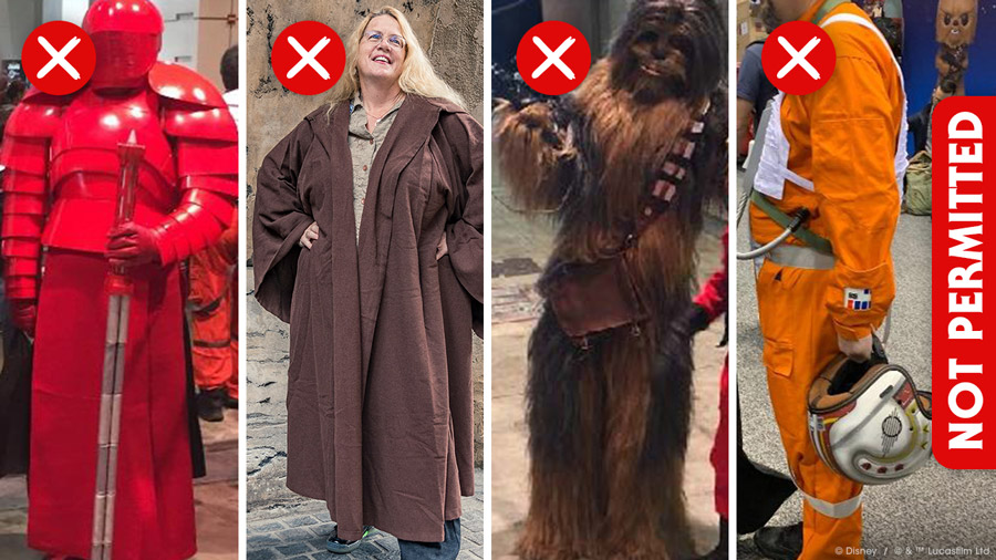 Bounding for your visit to Star Wars: Galaxy's Edge at Disneyland Resort - Not Permitted Attire