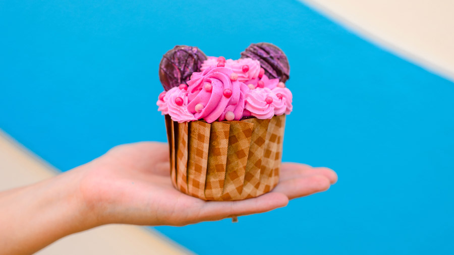 Hot Pink Cupcake from Disney's Pop Century Resort and Disney's Art of Animation Resort