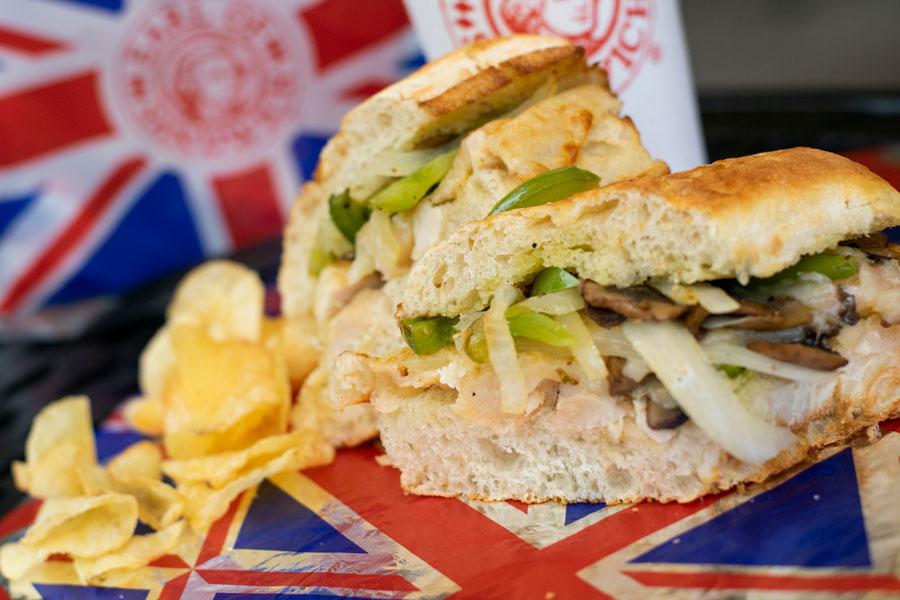 Chicken Cheesesteak Sandwich from Earl of Sandwich at Disney Springs