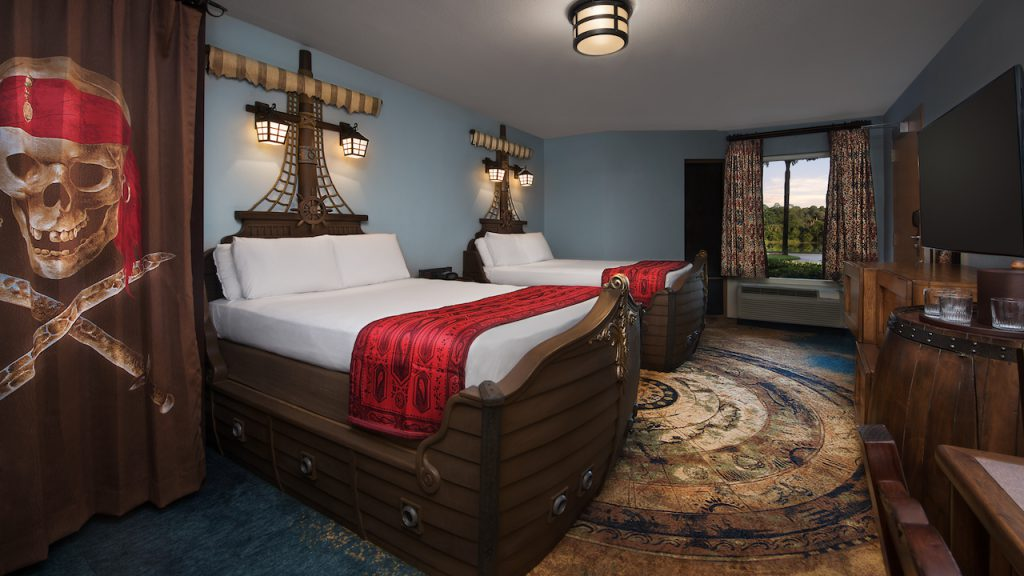 Pirate-themed room at Disney's Caribbean Beach Resort