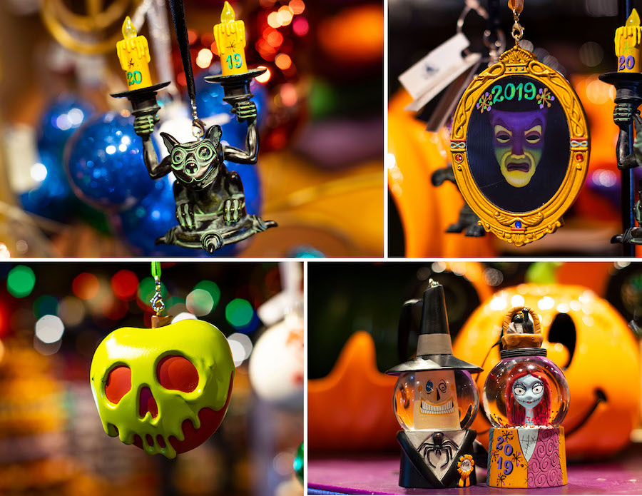 Halloween ornaments from Disney Springs