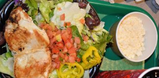 Salads with protein make a great option for Diabetic Dining in Disney World