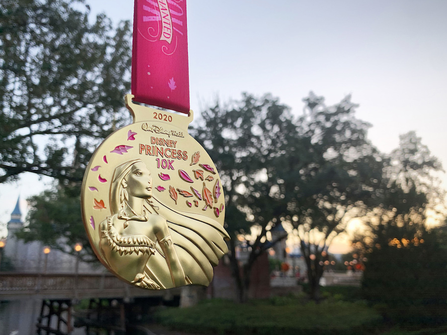 10k 2020 Disney Princess Half Marathon Weekend medal