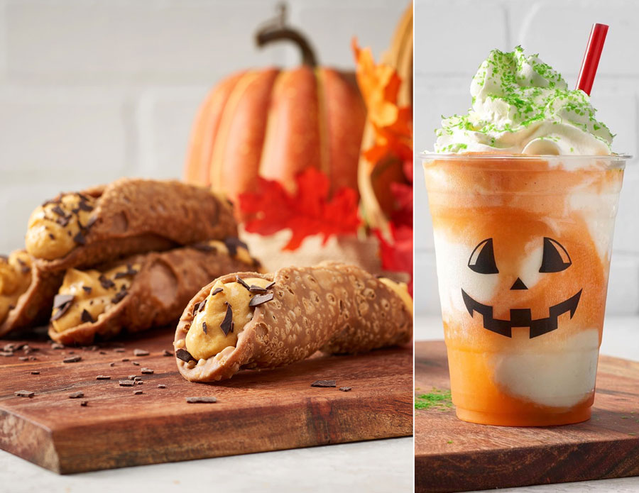 Pumpkin Cannoli and Jack-O-Lantern Float from Vivoli il Gelato