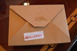 Allergy-friendly menu items are available to-go or at table service restaurants in Disney World.