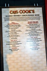 Manage Food Allergies at Disney World with the many Allergy-friendly menus at Disney Resorts and Parks