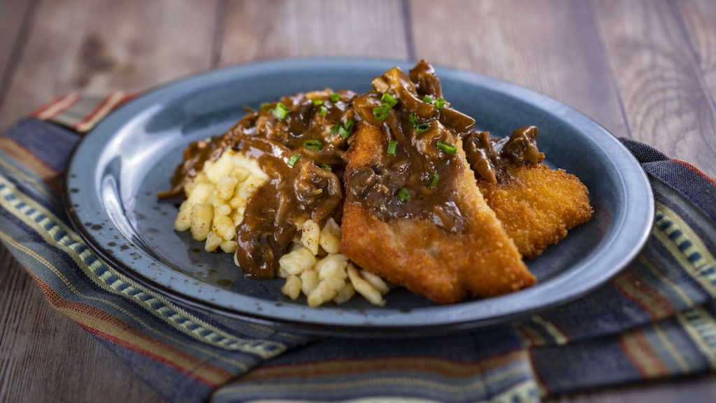 Pork Schnitzel from the Bavaria Holiday Kitchen for the 2019 Epcot International Festival of the Holidays