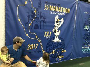 The course map for the half marathon in Walt Disney World on WDW Marathon weekend.