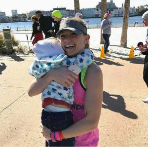 Family members can be spectators on the later parts of the WDW Marathon course.