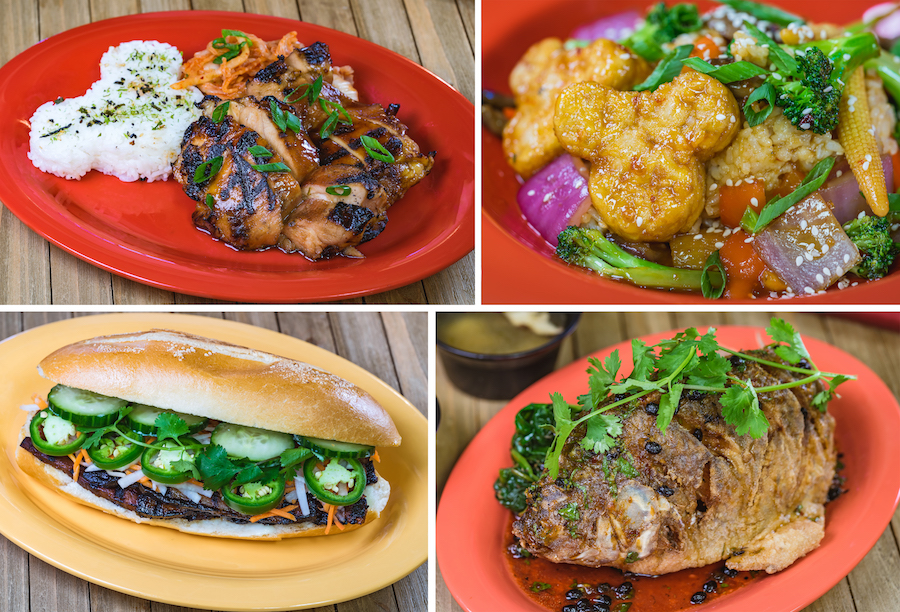 Offerings from Paradise Garden Grill for Lunar New Year 2020 at Disney California Adventure Park