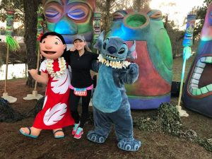Characters are available for Disney photopass on the WDW Marathon Course, like Lilo and Stitch.