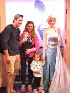 After the race, I visited Epcot with my family and met Elsa.