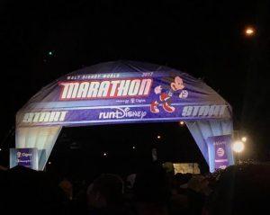 The start line of the 2017 WDW Marathon.