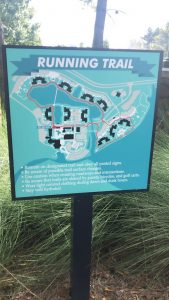 Resorts have maps of running trails for Working out In Disney World