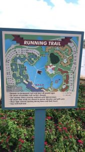 Coronado Springs Resort has a map of the running trail, perfect for working out in Disney World