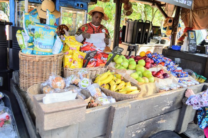 Fresh fruit in Harambe Market at Disney's Animal Kingdom will keep you healthy while in Disney!
