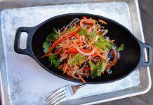 Surabat Shrimp & Noodle Salad - Chilled Shrimp, Marinated Noodles, Vegetables is an option at Docking Bay 7 for healthy eating in Disney World at Hollywood Studios