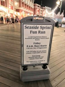 Resort Fun Runs are organized at select Disney Resorts like The BoardWalk's Seaside Sprint