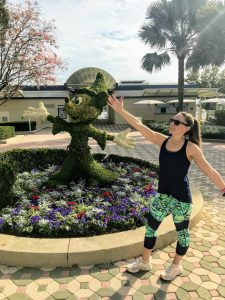 Ready for my Total Body Toning fitness class at Disney's Contemporary Resort in Disney World