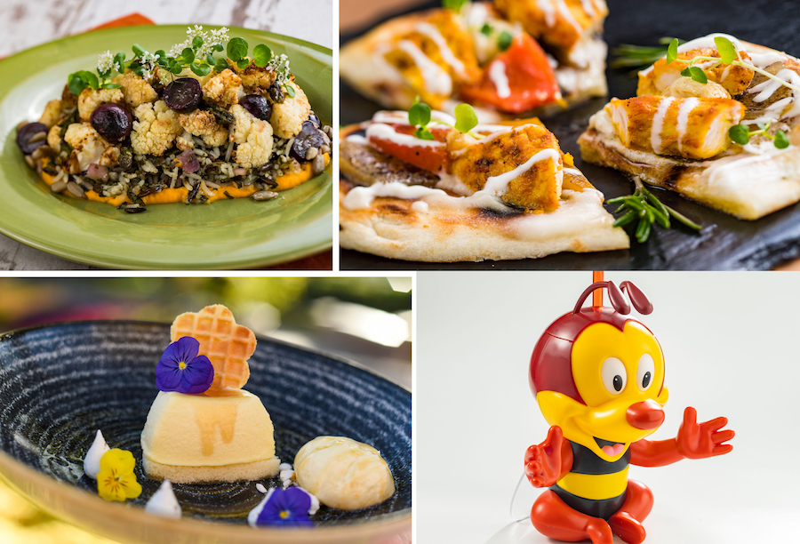 Offerings from the Honet Bee-stro Outdoor Kitchen for the 2020 Epcot International Flower & Garden Festival