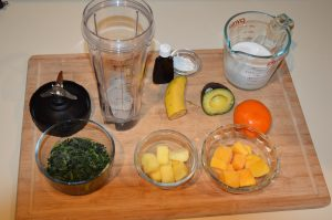 Ingredients for Green Smoothie Disney at home recipe