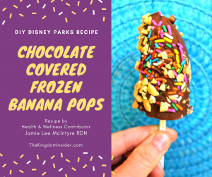 Chocolate covered frozen banana pops recipe disney parks