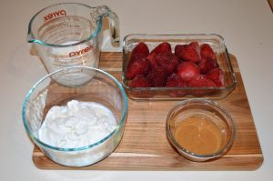 Ingredients for Peanut Butter and Jelly Smoothie