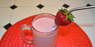 DIY Peanut Butter and Jelly Milkshake