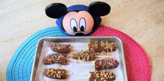 Chocolate Covered Frozen Banana Pops from Disney Parks easy to make at home