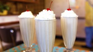 Peanut Butter and Jelly Milkshakes at 50's Prime Time Cafe in Disney's Hollywood Studios
