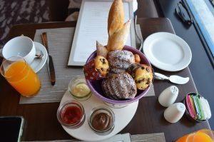 Complimentary pastries at Topolino's Terrace