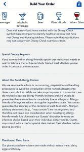 Disney's Food Allergy Process is unchanged