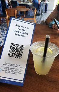 Scan QR Code to view dining menus at Disney